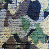army camo brushed square